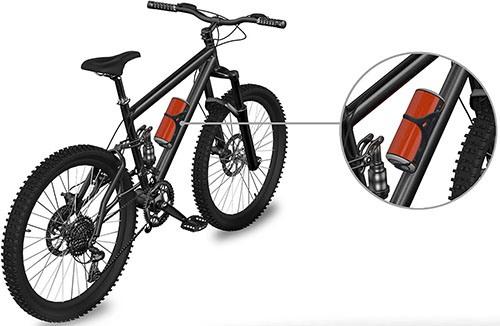 Колонку можно закрепить на раме велосипеда